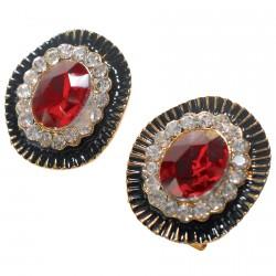 Boucles d'oreilles Clou - George Sand rouge