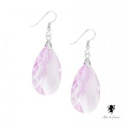 Boucles d'oreilles Pendant Swarovski Elements - Minas Gerais Violette
