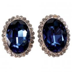 Boucles d'oreilles Clip - Montijo bleues, H. 2,5 cm