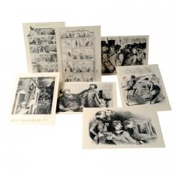 Cartes postales - Paris Romantique, L. 15 cm