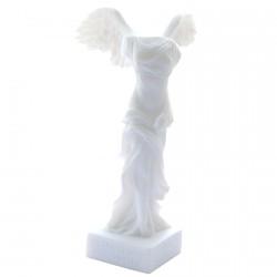 Sculpture albâtre - Victoire de Samothrace, H. 18 cm