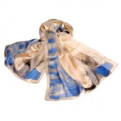 Etole soie 140 cm - Auguste Rodin bleu