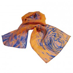Etole soie - Van Gogh orange, L. 130 cm