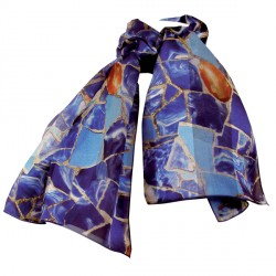 Foulard soie - Gaudi : Le Lezard bleu, L. 140 cm