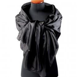 Etole soie - Eternelle noire, L. 200 cm
