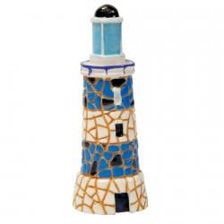 Sculpture mosaïque - Gaudi : Phare bleu , H. 8 cm