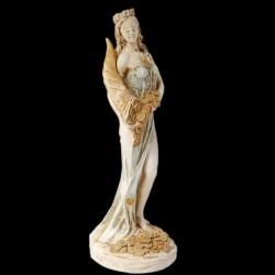 Sculpture pierre reconstituée - Déesse Fortune, H. 27 cm