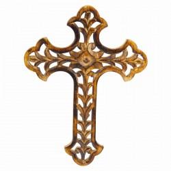 Croix Orthodoxe Ajourée bois 30 x 23 cm