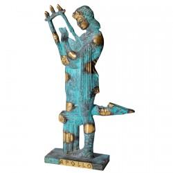 Statuette bronze - Apollon bleu 22 x 13 cm