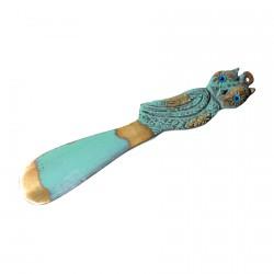 Chausse-pied bronze - Hibou, L. 13 cm