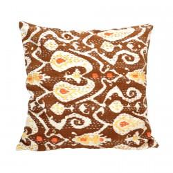 Coussin coton - Ikat, L. 50 cm
