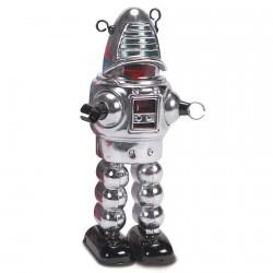 Répplique - Robby, Robot planète chromé, H. 22 cm