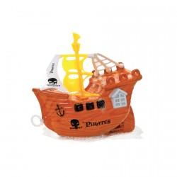 Véhicule miniature - Bateau Pirate, L. 13 cm