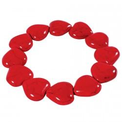 Bracelet - Valentin Coeur rouge, ø 20 cm