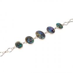 Bracelet argent - Réversible multicolore