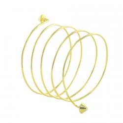 Bracelet laiton - Spirale doré
