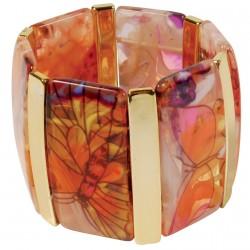 Bracelet Manchette - Papillons, H. 5 cm