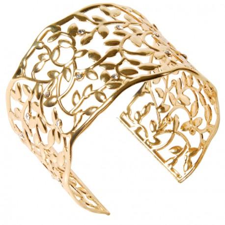Bracelet - Swarovski Elements Plaqué Or   Arabesques - Bijoux ... de6855ac79e