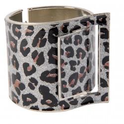 Bracelet manchette - Bagheera argenté