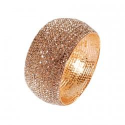 Bracelet manchette - Liz doré, l. 4 cm
