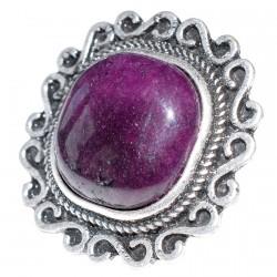 Bague réglable Agathe reconstituée - Néron violette
