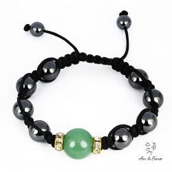 Bracelet Shamballa magnétique Swarovski Elements - Jade