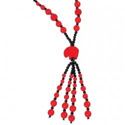Sautoir - Udaipur rouge, L. 80 cm