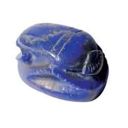 Sculpture lapis lazuli - Scarabée bleu, L. 5 cm