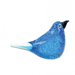 Verre Soufflé - Oiseau bleu, H. 11,5 cm