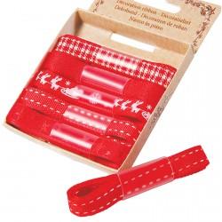 Rubans rouges, L. 100 cm (set de 6)