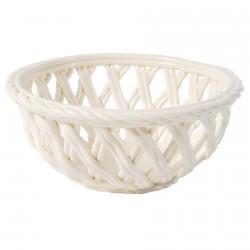 Corbeille céramique blanche, Ø 17 cm