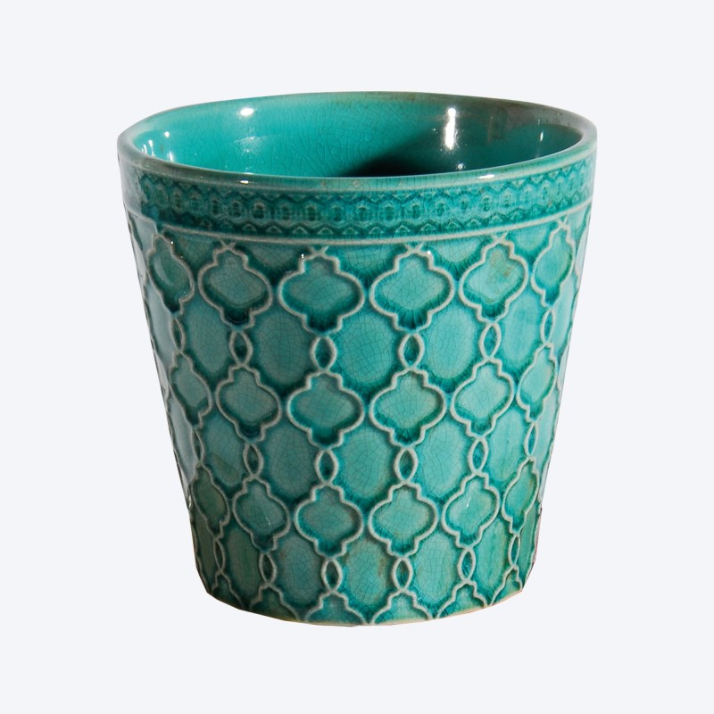 Best Cache Pot Turquoise Contemporary - Joshkrajcik.us - joshkrajcik.us