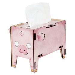 Boite de mouchoirs - Cochon Kleenex, H. 18 cm