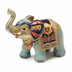 Figurine résine - Eléphant Jodhpur, H. 12 cm