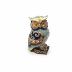 Figurine résine - Chouette Minnoëne, H. 12 cm