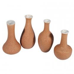 Petits Vases - Période Edo, H. 12 cm (lot de 4)