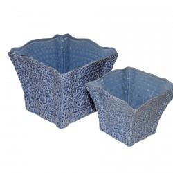 Cache-Pot bleus