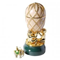Reproduction oeuf de collection Fabergé - Oeuf au Treillis, H. 20 cm