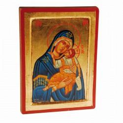 Icône Byzantine - Vierge de Tendresse, H. 23cm