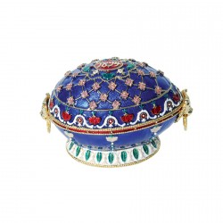 Reproduction oeuf de collection Fabergé - Oeuf Renaissance (1894), H. 9 cm