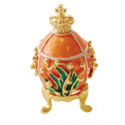 Reproduction oeuf de collection Fabergé - Oeuf au Muguet (1898), H. 6,5 cm