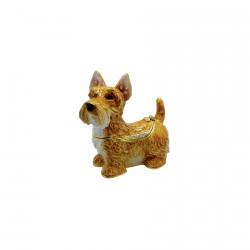 Petite Boite à secrets émaillée - Scottish Terrier