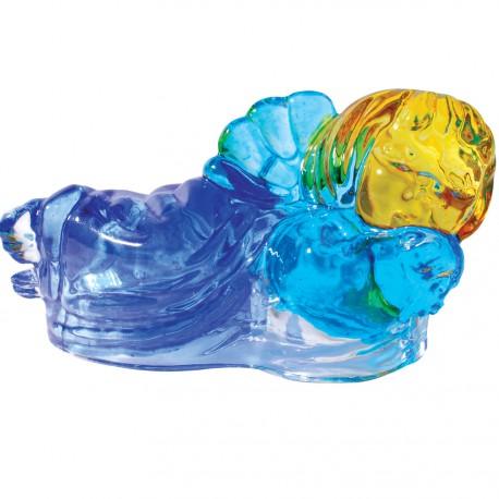 Verre Soufflé - Ange bleu Murano, H. 9,5 cm