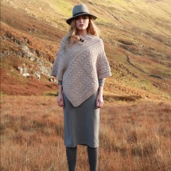 Poncho Laine - Galway beige, TU