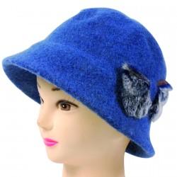 Chapeau - Papillon bleu canard, TU