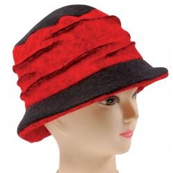 Chapeau - Linda noir et rougen TU