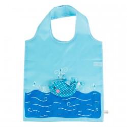 Sac Shopping - Baleine, H. 55 cm