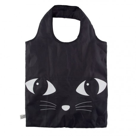 Sac Shopping - Chat noir, H. 55 cm