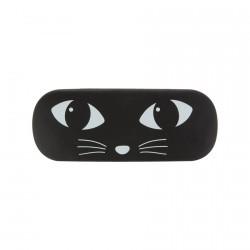 Etui à Lunettes - Chat noir, L. 16 cm