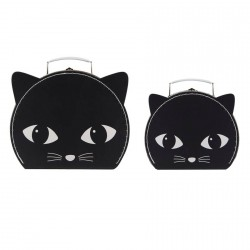 Valises - Chat Noir (lot de 2), L. 25 cm